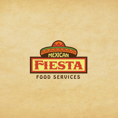 Burrito logo with the title 'Mexican Fiesta'