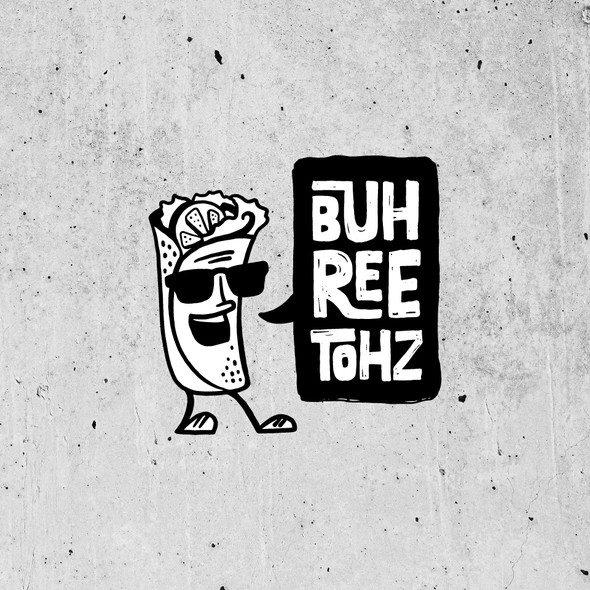 Street art design with the title 'Burrito Street Art Logo'