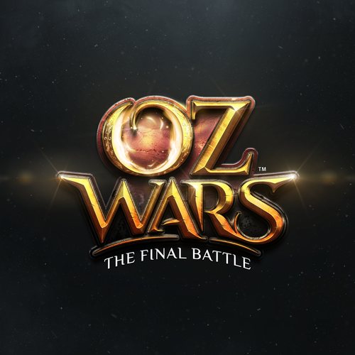 Game controller logo with the title 'OZ WARS: The Final Battle Game Logo'