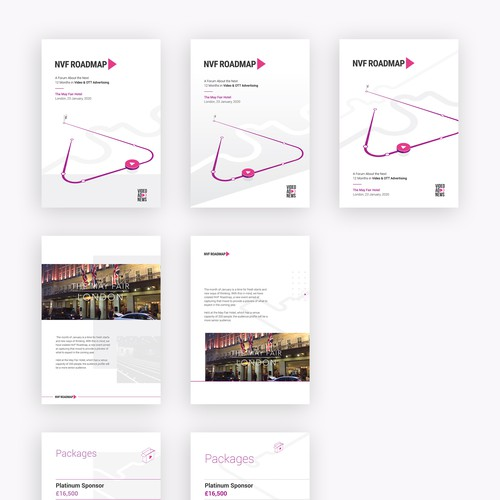 Exhibition design with the title 'NVF Roadmap doc'