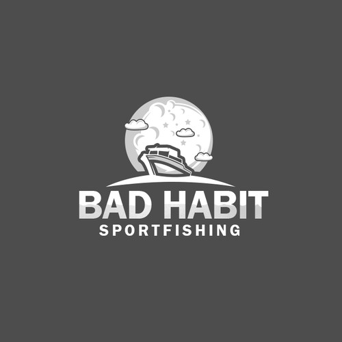 Fishing boat logo with the title 'Bad Habit'