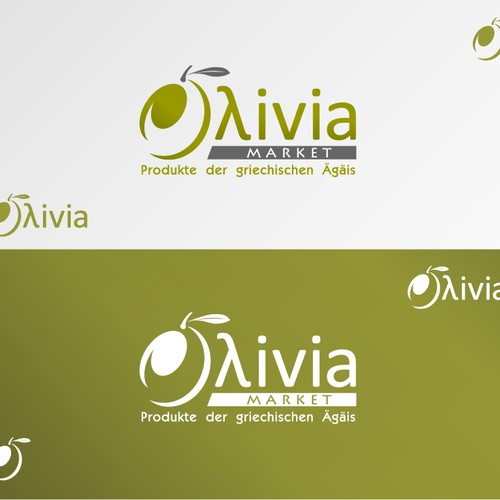 Natural product logo with the title 'New logo wanted for Oλivia Market'