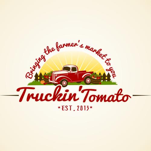 Tomato design with the title 'Truckin' Tomato'