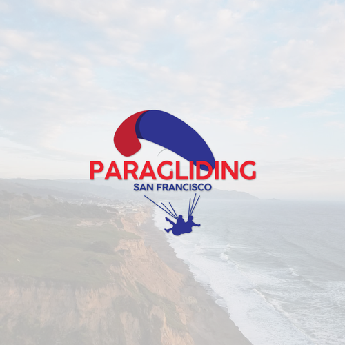 Paragliding logo with the title 'logo concept paragliding'