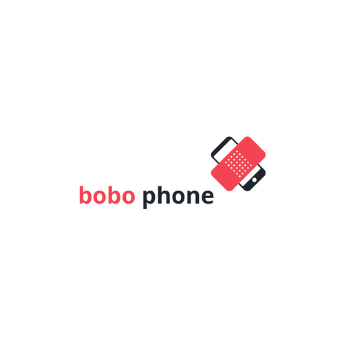 Phone brand with the title 'Logo for 'bobo phone', a mobile phone repair company'