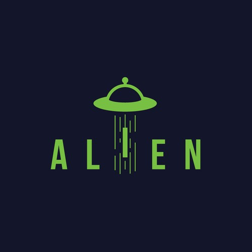 Abduction logo with the title 'Alien Logo'