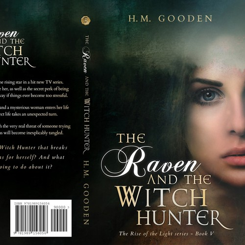 Mystery book cover with the title ''The Raven And The Witchhunter' by H. M. Gooden'