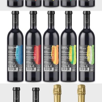 最小的大胆葡萄酒标签范围
