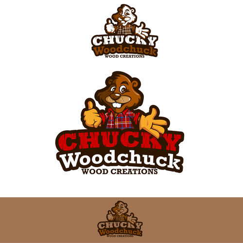 Work logo with the title 'Chucky Woodchuck Wood Creations'