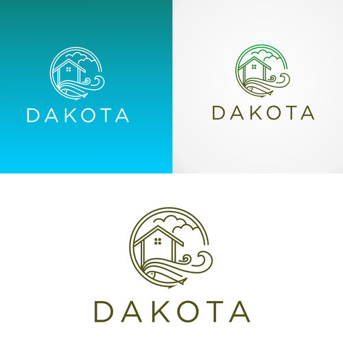 Paradise logo with the title 'bold logo concept for Dakota'