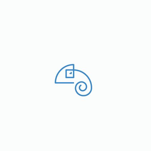 Chameleon design with the title 'One stroke chameleon logo'