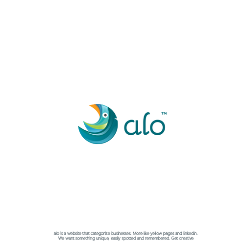 Speech therapy logo with the title 'alo™ - logo design'