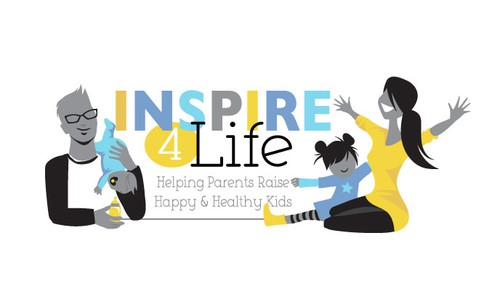 Motherhood logo with the title 'inspire 4 life'