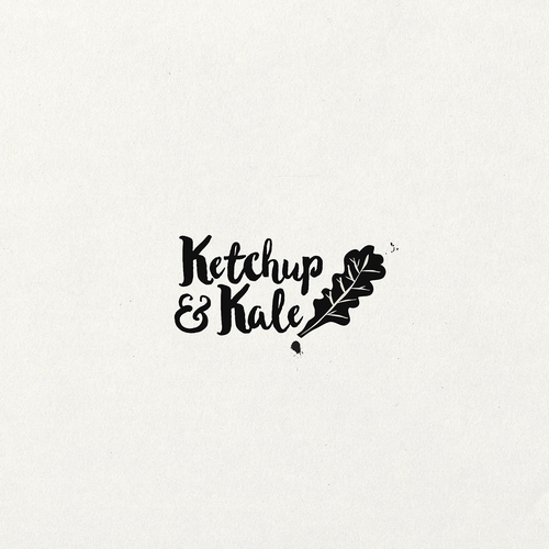Vegetable logo with the title 'Natural logo for a food blog'