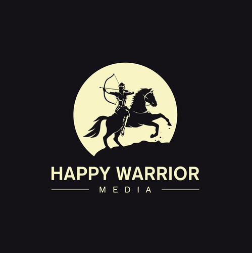 Picture logo with the title 'Happy Warrior Media'