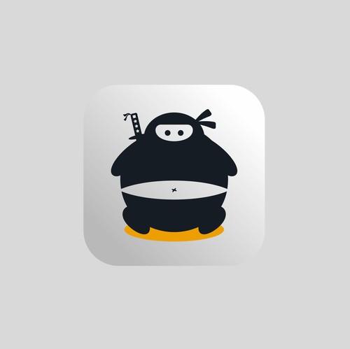 Body logo with the title 'Design a playful ninja logo'