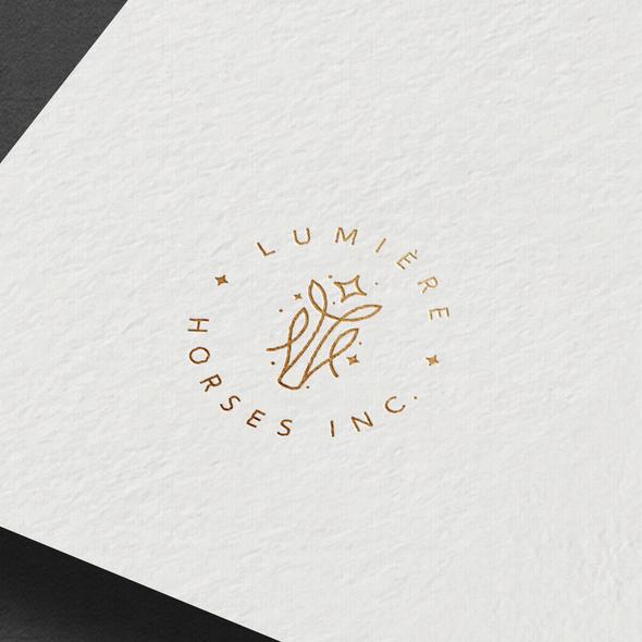 Sparkle design with the title 'Lumiere Horses Inc. Logo'