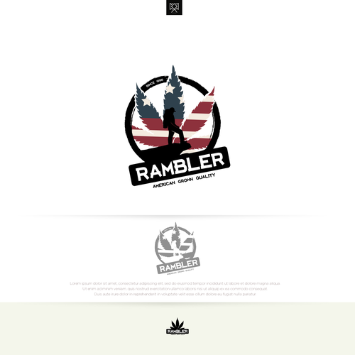 American flag logo with the title 'Rambler'