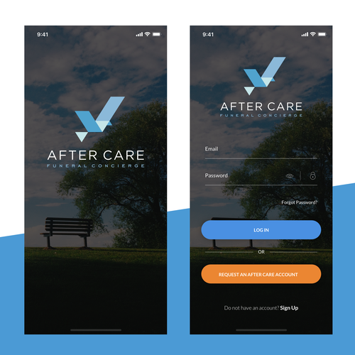 Funeral design with the title 'After Care'