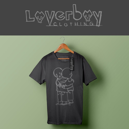 Urban t-shirt with the title 'Edgy logo for clothing company'