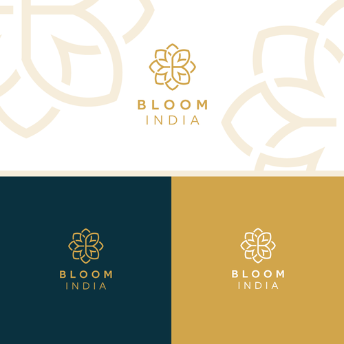 Flower logo with the title 'Bloom'