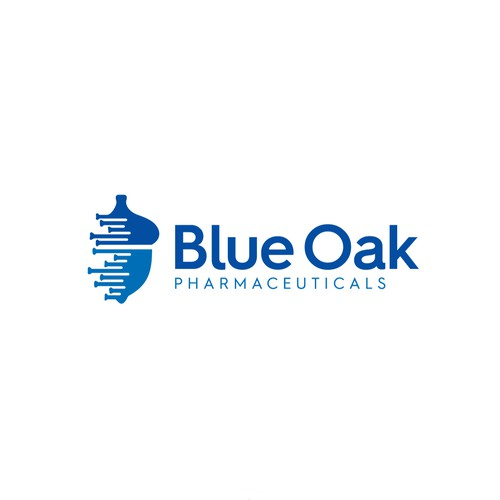 Research logo with the title 'BlueOak pharmaceuticals'