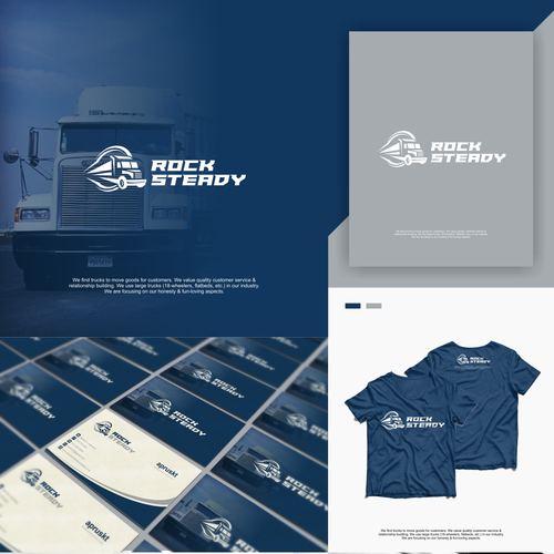 T-shirt brand with the title 'Design a fun & eye catching trucking/shipping illustration'