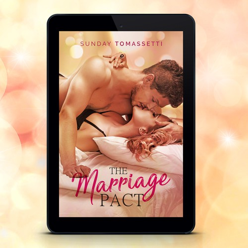 Marriage design with the title 'Romantic Ebook Cover'