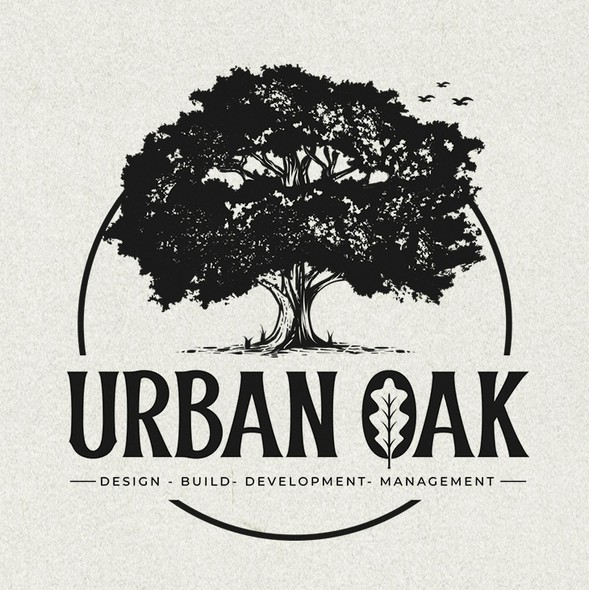 Oak tree design with the title 'URBAN OAK'