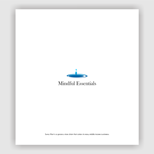 Mindfulness logo with the title 'Mindful Essentialist Logo concept'