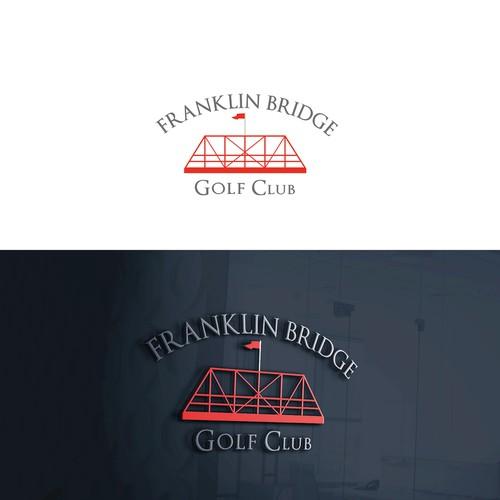 Golf club logo with the title 'Franklin Bridge - Golf Club'