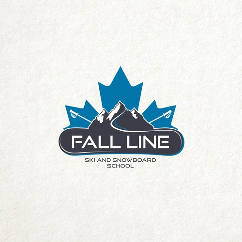Snowboard logo with the title 'Fall Line '