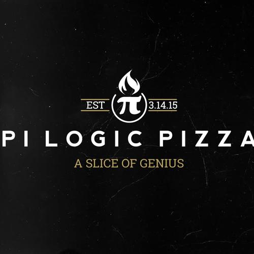 Nerd logo with the title 'π  Pi Logic Pizza. A Slice of Genius.'