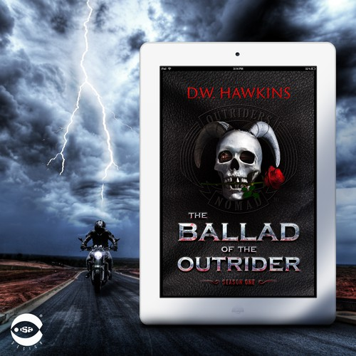 """Thriller book cover with the title 'eBook Cover for """"The Ballad of the Outrider"""" by D.W. Hawkins'"""