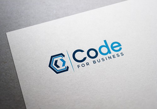 Web development logo with the title 'Code for Business'