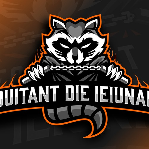 Raccoon design with the title 'equitant die ieiunare '