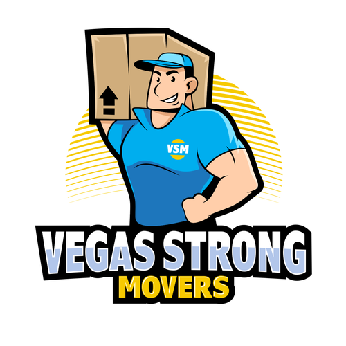 Yellow brand with the title 'Vegas Strong Movers'