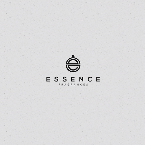 Perfume logo with the title 'Essence Logo'