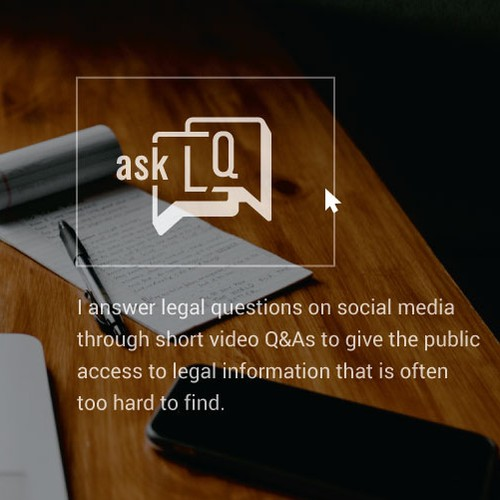 "Legal design with the title '""Ask LQ"" - Logo & Social Media Pack'"