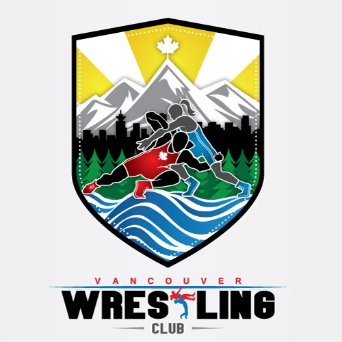 Wrestling design with the title 'Logo for Vancouver Wrestling Club'