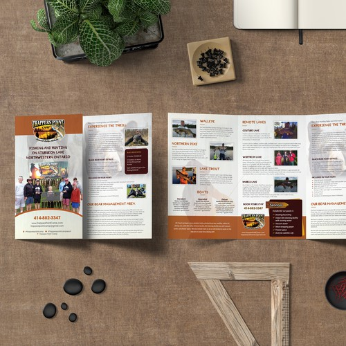 Lake design with the title '9x16 Adventure Brochure'