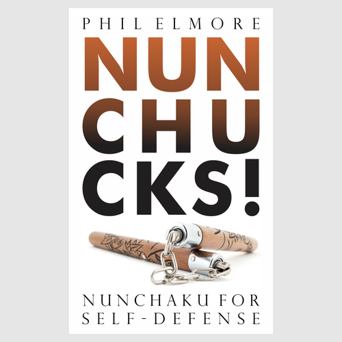 Fitness book cover with the title 'Book cover design for NUNCHUCKS'