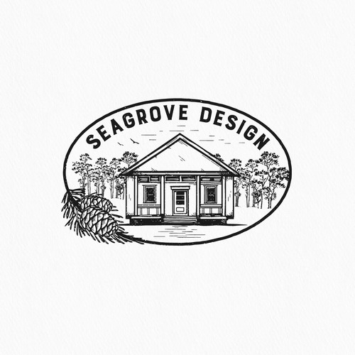 Home furnishing logo with the title 'Logo design'