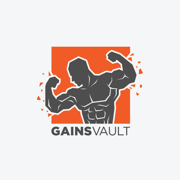 Vault design with the title 'Logo for a new revolutinary gym franchise'