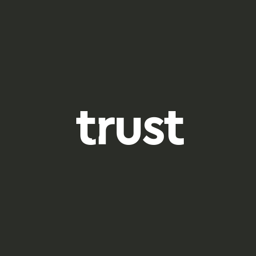 Purple and brown design with the title 'Trust POS Logo'