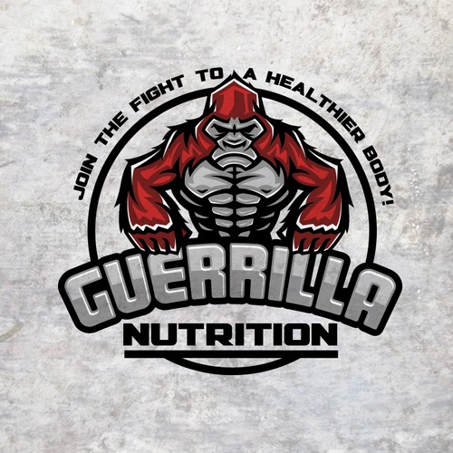 Gorilla design with the title 'Guerrilla'