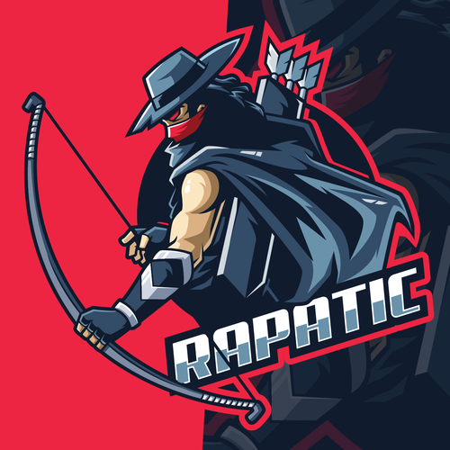 Archery logo with the title 'RAPATIC Gaming Logo'