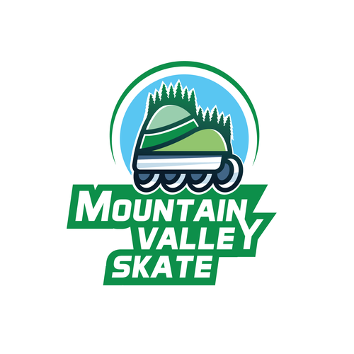 Skater logo with the title 'Logo design contest entry'