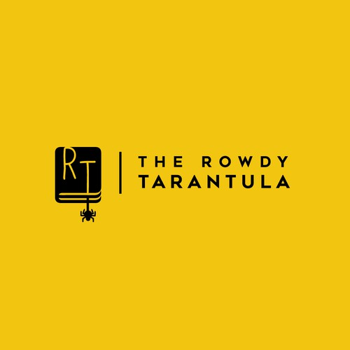 Editorial design with the title 'The Rowdy Tarantula Logo'