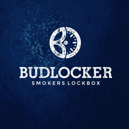 Monochromatic logo with the title 'BUDLOCKER'